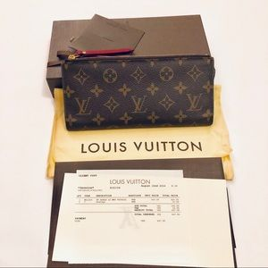 Louis Vuitton Adele Fuchsia Monogram Wallet